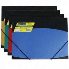 Папка на резинках Buromax, A4, двухцветная
