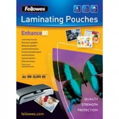 Film for lamination of 80 microns, A4, Fellowes