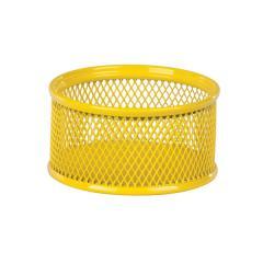 Подставка для скрепок Zibi, металлическая, желтая