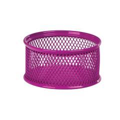 Подставка для скрепок Zibi, металлическая, розовая