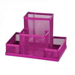 Прибор настольный, металлический, розовый Zibi