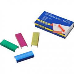 Скобы для степлеров цветные Buromax №24