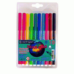 Felt-tip pens of Centropen 7550, 10 of colors
