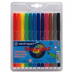 Felt-tip pens of Centropen 7550, 12 of colors (7550.12)