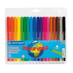 Felt-tip pens of Centropen 7550, 18 of colors (7550.18)