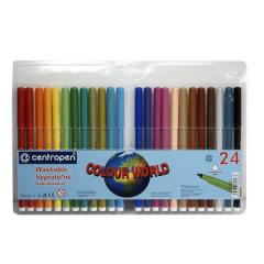Фломастеры Centropen 7550,  24 цвета...