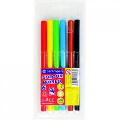 Felt-tip pens of Centropen 7550, 6 of colors (7550.06)