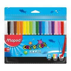 Фломастеры Maped COLOR PEPS Ocean 18 цветов...