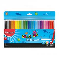Фломастеры Maped COLOR PEPS Ocean 24 цвета