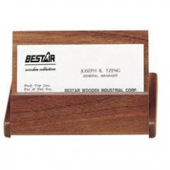 Футляр подставка для визиток из натурального дерева Bestar (1316WDN)