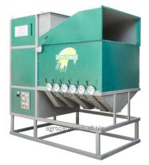 Aerodynamic separator for cleaning grain