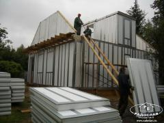 Hermostructural panels from expanded polystyrene