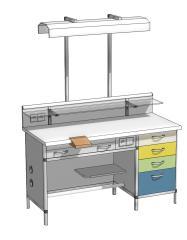 Зуботехнический стол ЗСт-1 1300х700х900 мм.