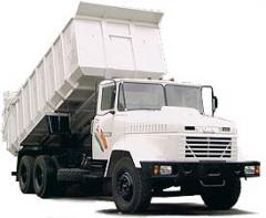 Car cargo KRAZ 6130C4 dump truck.