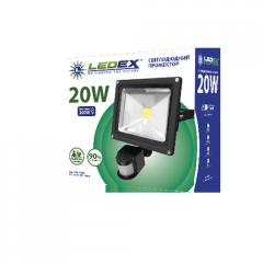 Светодиодный прожектор LEDEX 20W с датчиком движения