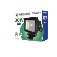 Светодиодный прожектор LEDEX 30W с датчиком...