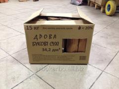 Chimney firewood in cardboard packing