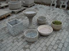 Вазон уличный бетонный КВАДРАТ