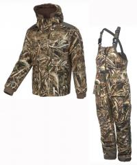 Костюм для охоты теплый Game Winner® Men's Pintail Waterfowl Camo Jacket & Bibs