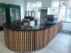 Bar counters from marble, granite, quartzite