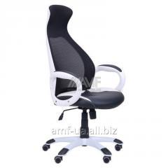 Кресло Cobra белый, сиденье Неаполь N-20, Неаполь N-50/спинка Сетка черная