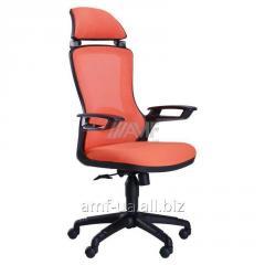Кресло Boomer сетка оранжевая, каркас черный