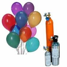 Helium in cylinders