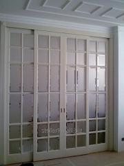 Big doors with glass, wooden doors from the Style
