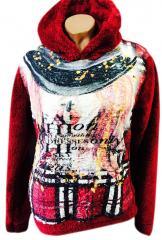 """Подростковый свитер с капюшоном """"Пейзаж"""""""