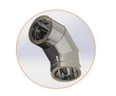 Knee with thermal insulation 90 n / a 0.8 mm.