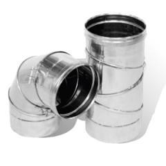 Колено из нержавеющей стали: 0-90 (поворотный), 0,5 мм, диаметр (ф140)