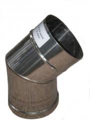 Колено из нержавеющей стали: 45 (фиксов) 0,8мм, диаметр (ф110)