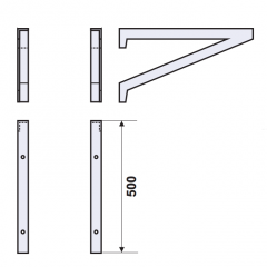Arm from stainless steel (set) 1250