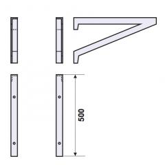 Stainless steel bracket (total): 600Кронштейн из