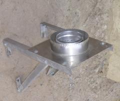 Подставка напольная, настенная, разгрузочная (с теплоизоляцией) из нержавеющей стали: диаметр (ф230 / 300)