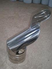Флюгер из нержавеющей стали: диаметр (ф130)
