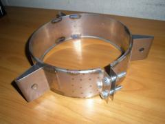 Хомут из нержавеющей стали: монтажный, диаметр (ф130)