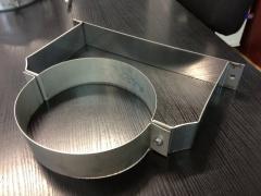 Хомут из нержавеющей стали: стеновой 90мм, диаметр (ф230)