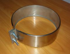 Хомут обжимной из нержавеющей стали: обжимной, диаметр (ф125)
