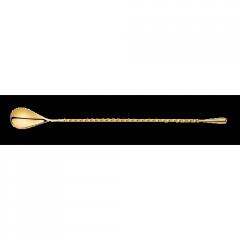 Барная ложка 300 мм, золото