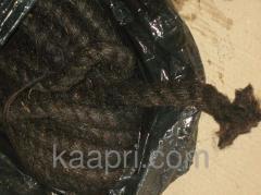 Каболка смоляная, канат промасленый д. 10-50 мм для чеканки труб