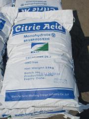 Lemon acid in bags on 25 kg