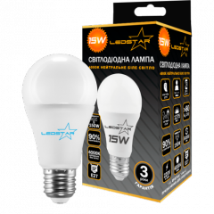 Светодиодная лампочка LEDSTAR A60 15W E27 STANDART