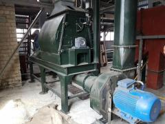 Crusher molotkovy pods, agricultural waste, wood
