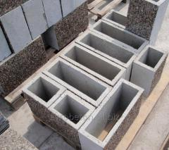 Blocks concrete for fences