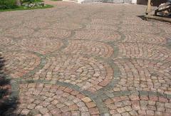Stone blocks granite different forms