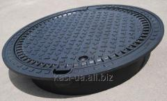The heavy manhole main with the self-leveled KDN81P Europa case of 40 tons