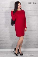 Dress from dense jersey of PL3-318