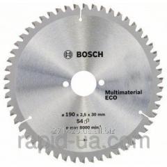 Пила дисковая по дереву Bosch 190x20/16x54z Multi ECO