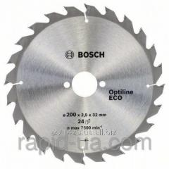 Circular saw on a tree of Bosch 200x32x48z